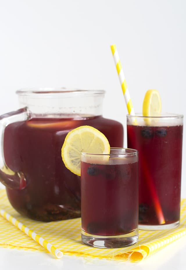 Blueberry Pomegranate Lemonade Iced Tea