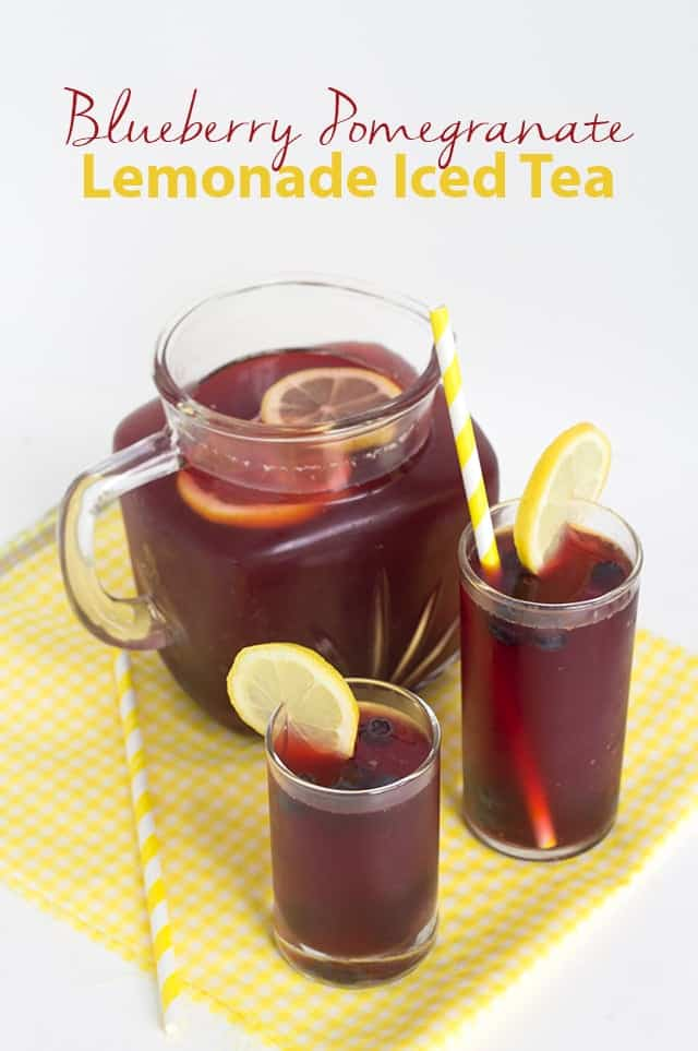 Blueberry Pomegranate Lemonade Iced Tea