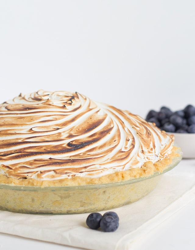 Blueberry Rhubarb Meringue Pie
