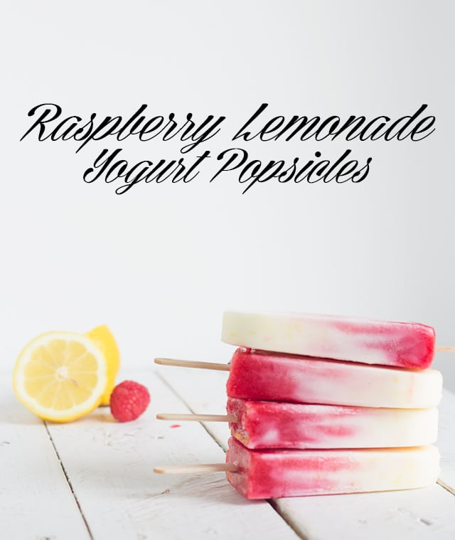 Raspberry Lemonade Yogurt Popsicles