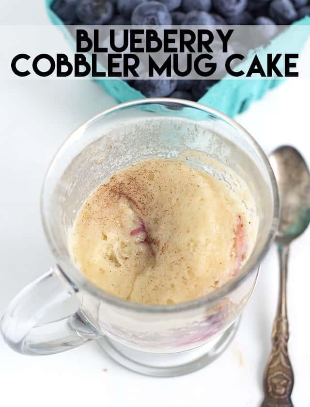 Blueberry Cobbler Mug Cake