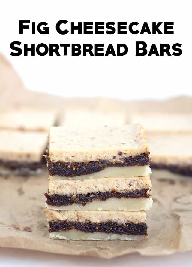 Fig Cheesecake Shortbread Bars - Fig Bars meet cheesecake in this amazing bar. It's a must try!