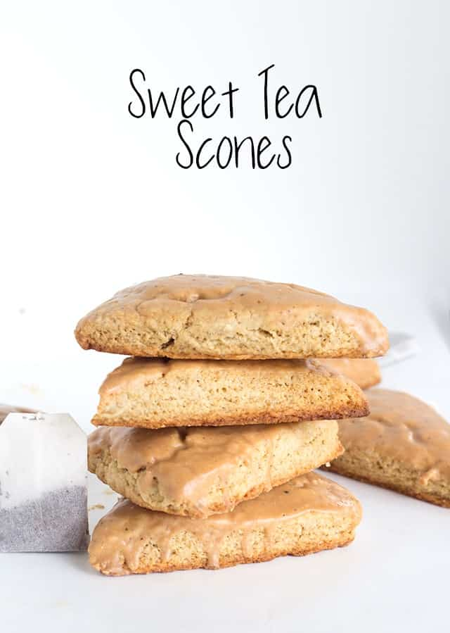 Sweet Tea Scones with a sweet tea glaze. This is the best tasting scone I've had yet!