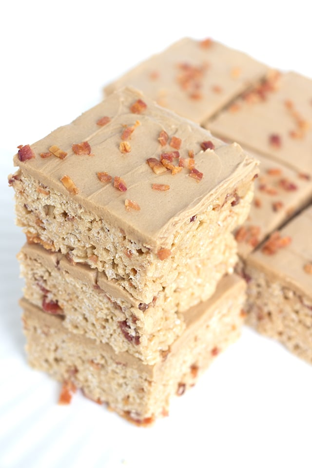 Maple Bacon Rice Krispies Treats - sweet and salty chewy marshmallow ...