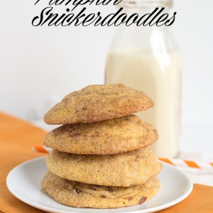 Pumpkin Snickerdoodles - soft pumpkin cookies filled with spices and rolled in cinnamon and sugar.