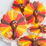 Fun and Festive Turkey Cookies - These sugar cookies are so darn cute! Get your royal icing out and start decorating with me!