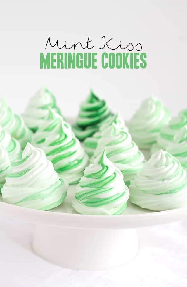 Mint Kiss Meringue Cookies