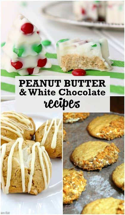 3 Amazing Peanut Butter and White Chocolate Recipes