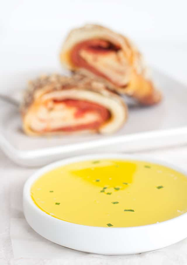 Garlic Butter Dipping Sauce - the simple buttery garlic goodness that any sort of bread should be dipped in!