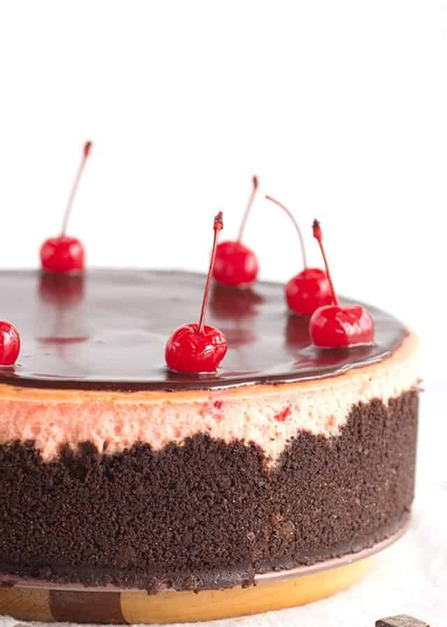 Cherry Chocolate Chip Cheesecake