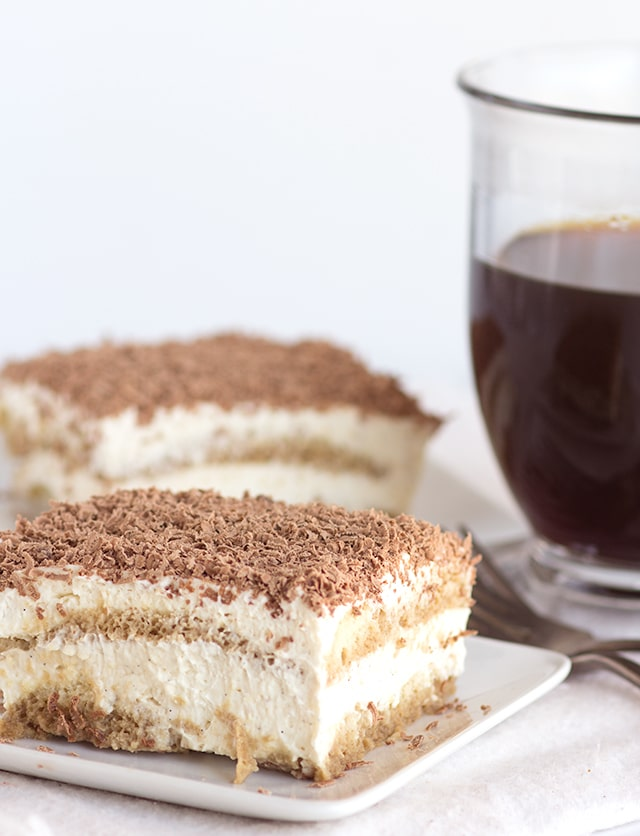 Easy Tiramisu - The perfect dessert for the coffee lover. It's so simple to put together with a few shortcut ingredients!