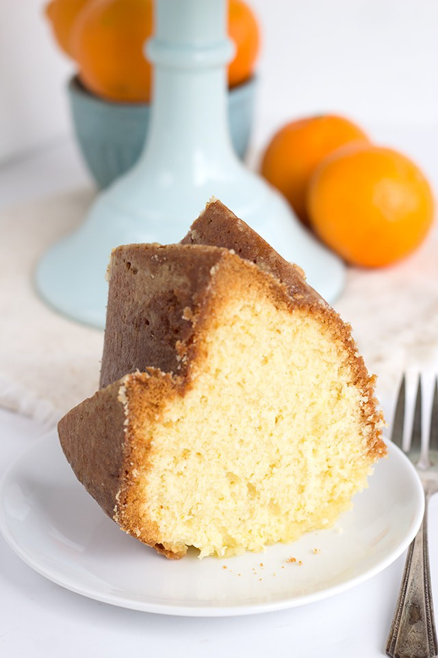 a slice of Orange Olive Oil Cake