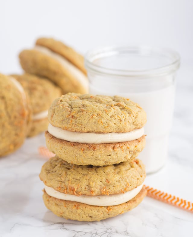Peanut Butter Carrot Cake Whoopie Pies - Cookie Dough and ...