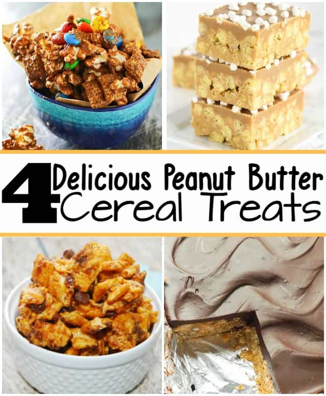 4 Delicious Peanut Butter Cereal Treats! | No Bake Peanut Butter Chocolate Cereal Squares