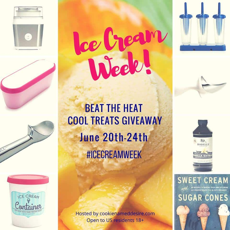 Ice Cream Week Giveaway - packed full of amazing ice cream goodies!