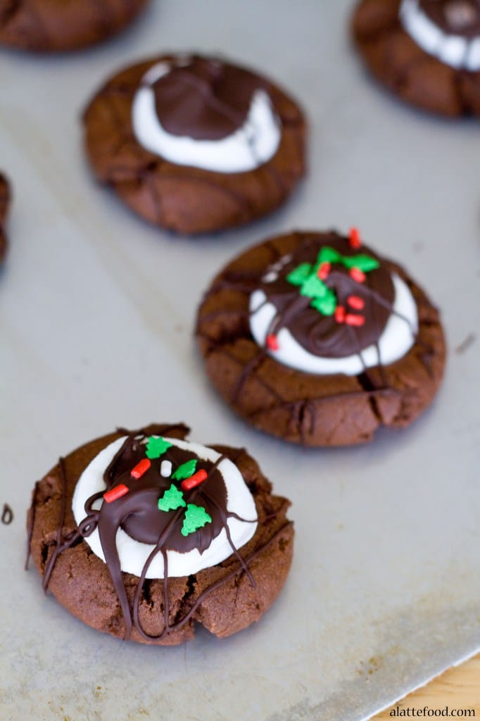 Hot Chocolate Thumbprint Cookies