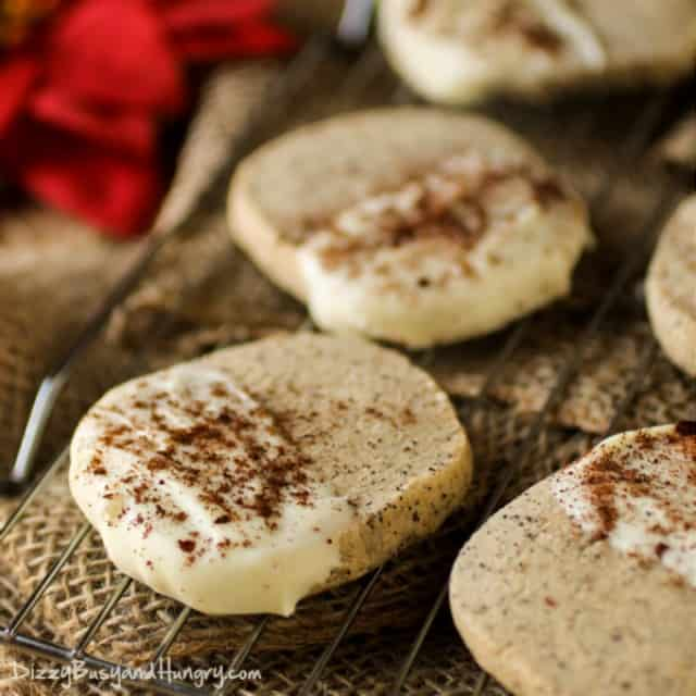 White Chocolate Dipped Coffee Shortbread