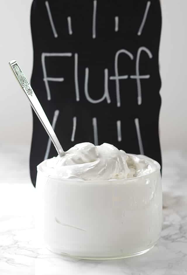 Homemade Marshmallow Fluff - forget store-bought marshmallow fluff, this delicious marshmallow cream is amazing!