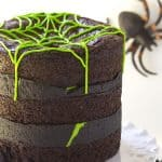 Spider Egg Brownie Cake