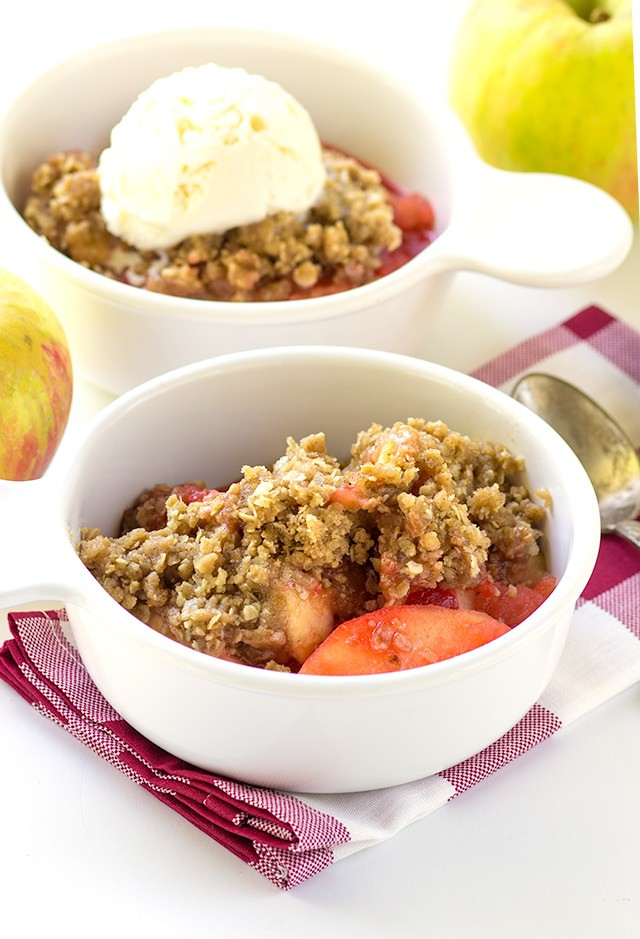 Red Hot Crock Pot Apple Crisp - You know what goes awesome with apples? Red hot candies. Toss them into a crock pot with some streusel topping and you'll have dessert in no time.