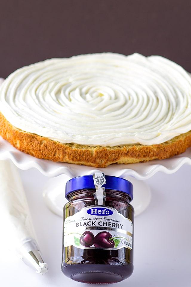 Grandma's Cherry Torte with Whipped Cream