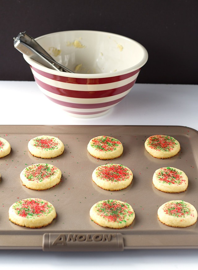 Laughing Cow Sugar Cookies - Soft, tender sugar cookies that only takes 6 ingredients and some sprinkles to make! The cheesy addition is perfection.