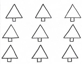 Christmas Tree French Macaron Template