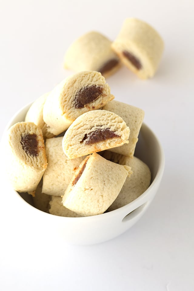 homemade version of Fig Newton date filled cookies